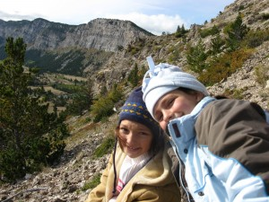 Hanging out with my 2 youngest ladies on a bighorn hunt in Montana